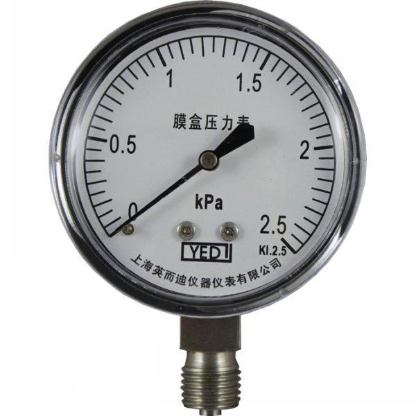 全不鏽鋼膜盒壓力表YE-65H