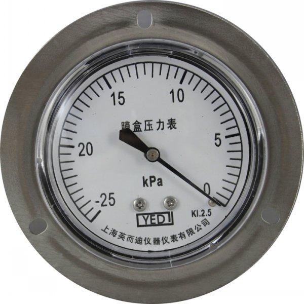 全不鏽鋼軸向帶邊膜盒壓力表 YE-65HZT